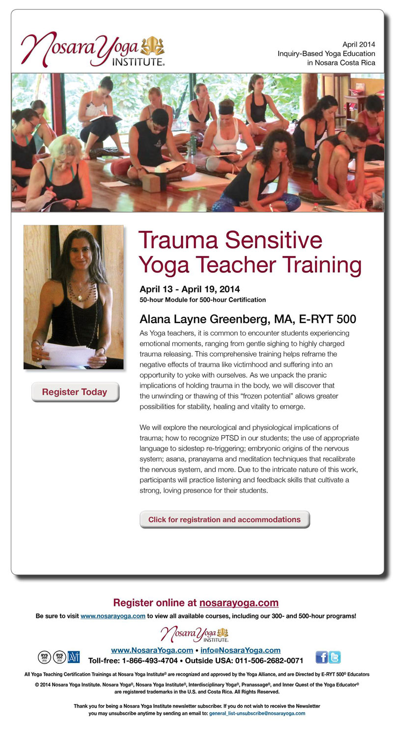 Click for Trauma Sensitive Yoga Teacher Training details and registration
